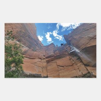 Emerald pools Weeping Rock Zion National Park Rectangular Sticker