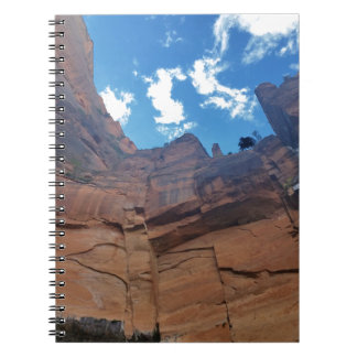 Emerald pools Weeping Rock Zion National Park Spiral Notebook