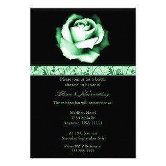 Emerald Rose Bridal Shower Invitation