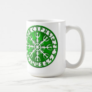 Emerald Runic Circle Coffee Mug