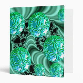 Emerald Satin Dreams - Abstract Irish Fairy Button Vinyl Binders
