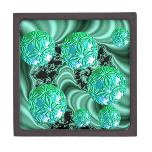 Emerald Satin Dreams - Abstract Irish Shamrock Gift Box