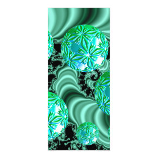 Emerald Satin Dreams - Abstract Irish Shamrock 4x9.25 Paper Invitation Card