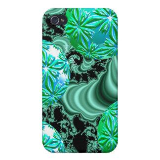 Emerald Satin Dreams - Abstract Irish Shamrock iPhone 4 Cover