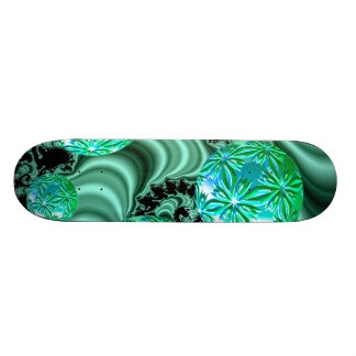 Emerald Satin Dreams - Abstract Irish Shamrock Skateboard