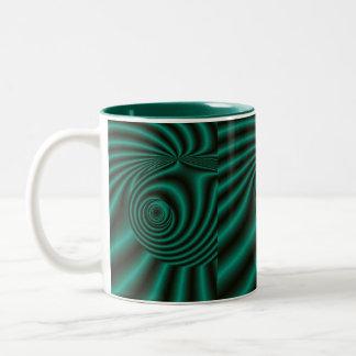 """""""Emerald Satin""""* Two-Tone Coffee Mug"""