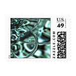 Emerald Sea Abstract Postage Stamp