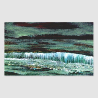 Emerald Sea - CricketDiane Ocean Art Products Rectangular Sticker