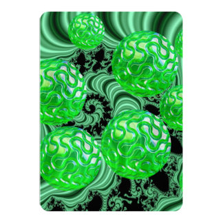 Emerald Sea Forest, Abstract Green Ocean Card