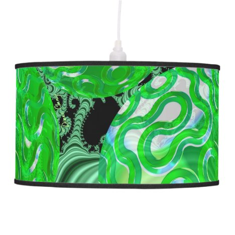 Emerald Sea Forest, Abstract Green Ocean Hanging Lamp