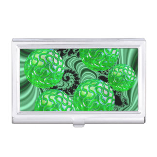 Emerald Sea Forest, Abstract Green Ocean Case For Business Cards