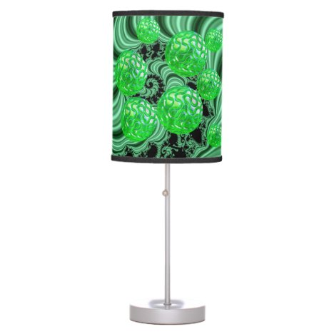 Emerald Sea Forest, Abstract Green Ocean Table Lamp