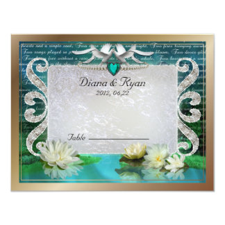 Emerald Sea Table Card
