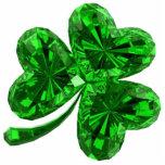 Emerald Shamrock 2 Magnet Acrylic Cut Out