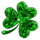 Emerald Shamrock 2 Pin Photo Sculptures