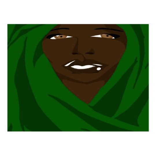 Emerald Shawl 2(Sketchbook Pro) Postcard
