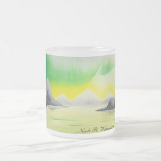 Emerald Skies Frosted Glass Coffee Mug