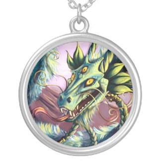 Emerald Sky Dragon Pendant Round