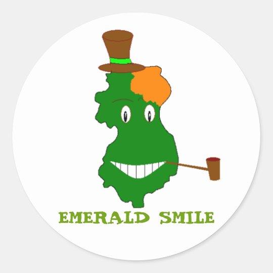 EMERALD SMILE CLASSIC ROUND STICKER