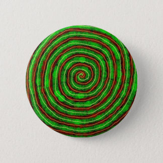 Emerald Spiral Pinback Button