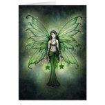 Emerald Star Christmas Fairy Card