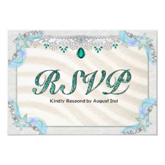 Emerald Starfish Beach RSVP Card