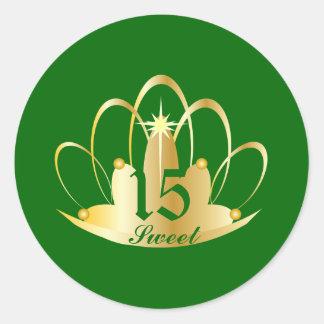 Emerald Sweet 15 Tiara Sticker-Customize