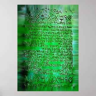 Emerald tablets Thoth Hermes Trismegist art poster