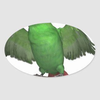 Emerald Toucanet Oval Sticker
