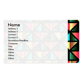 Emerald triangles business card