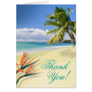 Emerald Waters Beach Thank You Card