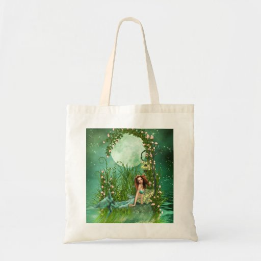 Emerald Waters Budget Tote Bag