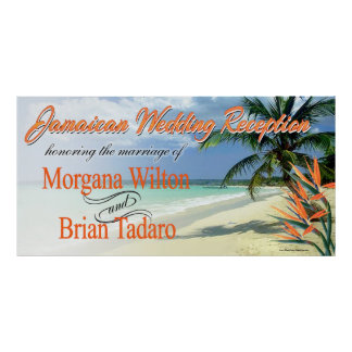 Emerald Waters Jamaican Beach Wedding Reception Poster