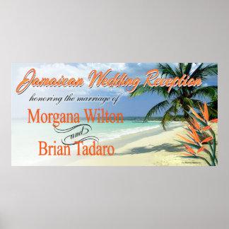 Emerald Waters Jamaican Beach Wedding Reception Poster