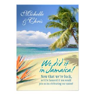 Emerald Waters Reception Card Jamaica Invite