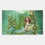 Emerald Waters Rectangular Stickers