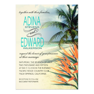Emerald Waters Tropical Beach | aqua FELT Card