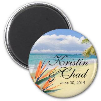 EMERALD WATERS Tropical Beach Wedding Magnet