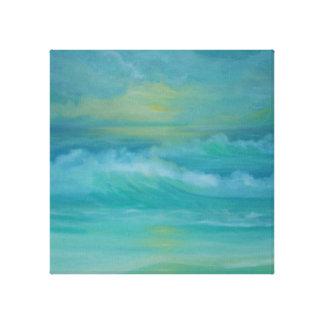 Emerald Waves Canvas Print
