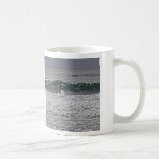 Emerald Waves Classic White Coffee Mug