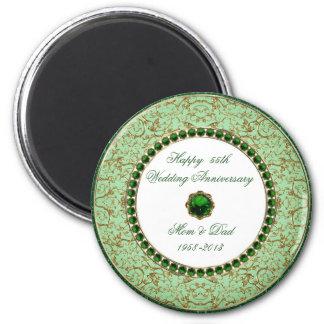 Emerald Wedding Anniversary Magnet Magnet