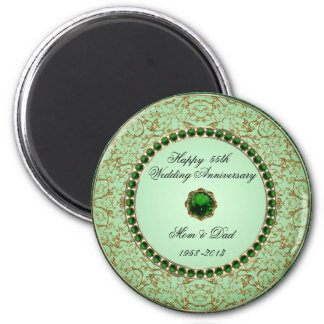 Emerald Wedding Anniversary Magnet