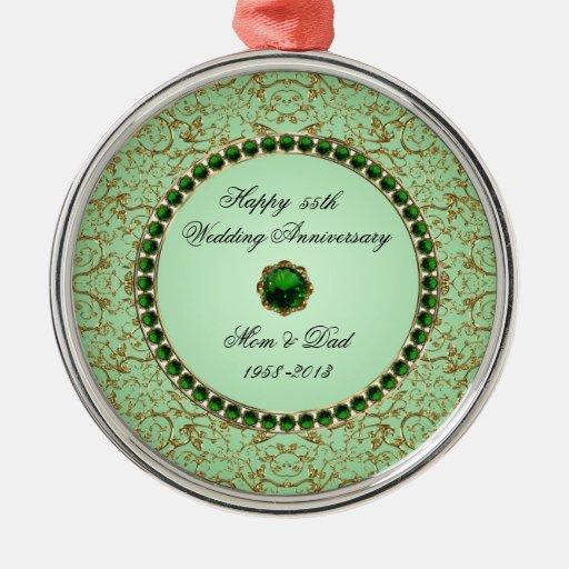 Emerald Wedding Anniversary Ornament