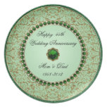Emerald Wedding Anniversary Plate
