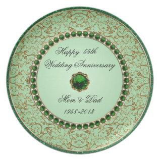 Emerald Wedding Anniversary Plate at Zazzle