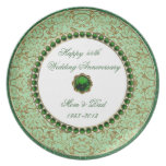 Emerald Wedding Anniversary Plate