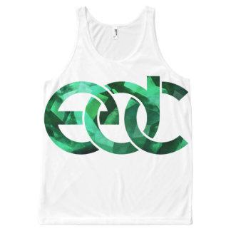 Emerald/white EDM All-Over-Print Tank Top