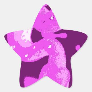 EmeraldBoaFuzzy.JPG Pegatina En Forma De Estrella