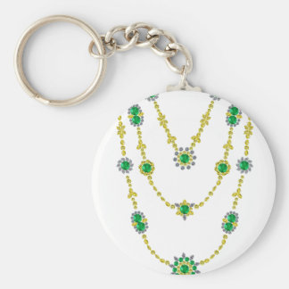 Emeralds in Chains Keychain