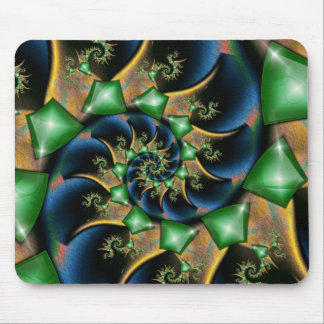 Emeralds On Satin Mouse Pad
